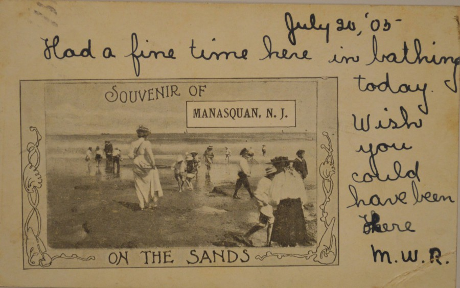Postcard -- Manasquan -- On the Sands