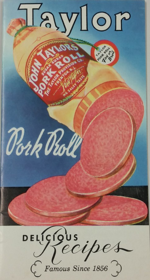 Cover to the Taylor Pork Roll cookbook
