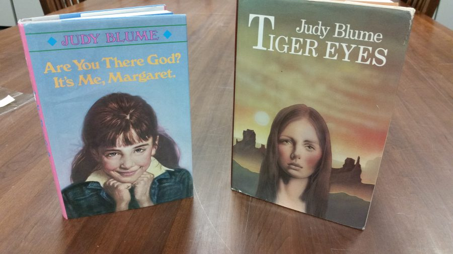 "Covers of Judy Blume's ""Are You There God? It's Me, Margaret"" and ""Tiger Eyes."""
