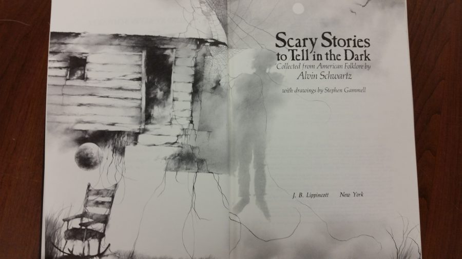 "Title page for ""Scary Stories to Tell in the Dark."""