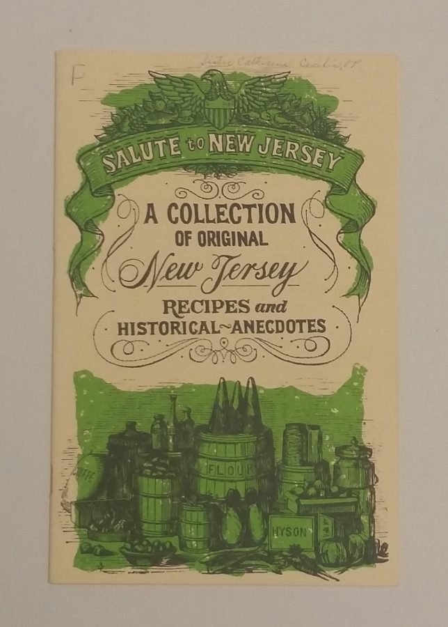 "Cover of the book ""Salute to New Jersey:  A Collection of Original New Jersey Recipes and Historical Anecdotes."""