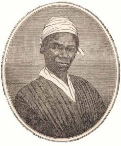 Illustration of Sojourner Truth with white head wrap