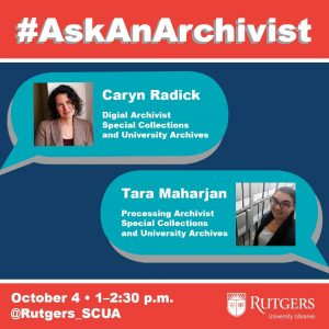 Flyer for #AskAnArchivist Day.