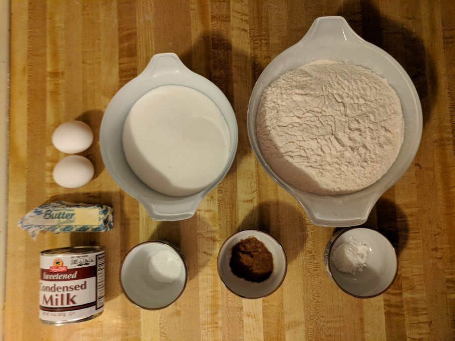 Ingredients for Swiss Cake.