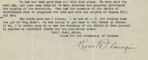 excerpt from typewritten letter