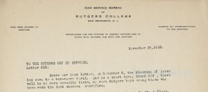paragraph from typed letter on letterhead